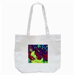 Abstract Painting Blue,yellow,red,green Tote Bag (white)  by Costasonlineshop