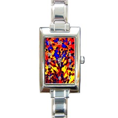 Fire Tree Pop Art Rectangle Italian Charm Watches