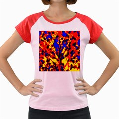 Fire Tree Pop Art Women s Cap Sleeve T Shirt by Costasonlineshop