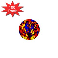 Fire Tree Pop Art 1  Mini Buttons (100 Pack)  by Costasonlineshop