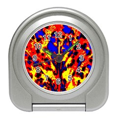 Fire Tree Pop Art Travel Alarm Clocks by Costasonlineshop