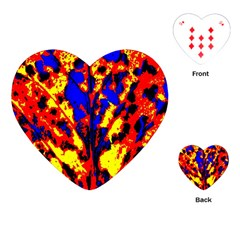 Fire Tree Pop Art Playing Cards (heart)  by Costasonlineshop