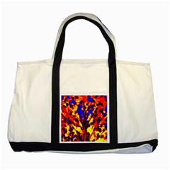 Fire Tree Pop Art Two Tone Tote Bag  by Costasonlineshop