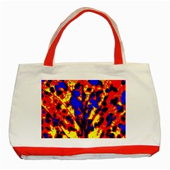 Fire Tree Pop Art Classic Tote Bag (red)  by Costasonlineshop