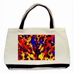 Fire Tree Pop Art Basic Tote Bag (two Sides)  by Costasonlineshop