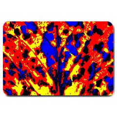 Fire Tree Pop Art Large Doormat  by Costasonlineshop