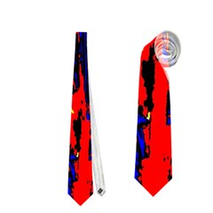 Fire Tree Pop Art Neckties (one Side)  by Costasonlineshop