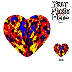 Fire Tree Pop Art Multi Purpose Cards (heart)  by Costasonlineshop