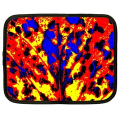 Fire Tree Pop Art Netbook Case (large) by Costasonlineshop