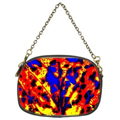 Fire Tree Pop Art Chain Purses (two Sides)  by Costasonlineshop
