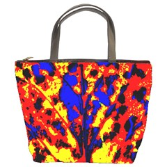 Fire Tree Pop Art Bucket Bags by Costasonlineshop