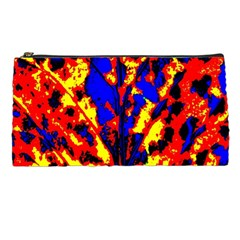 Fire Tree Pop Art Pencil Cases by Costasonlineshop