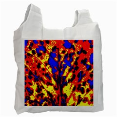 Fire Tree Pop Art Recycle Bag (one Side) by Costasonlineshop
