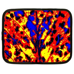 Fire Tree Pop Art Netbook Case (xl)  by Costasonlineshop