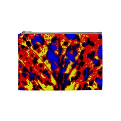 Fire Tree Pop Art Cosmetic Bag (medium)  by Costasonlineshop
