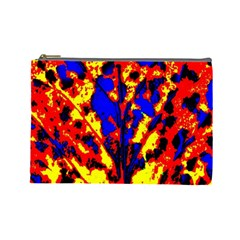 Fire Tree Pop Art Cosmetic Bag (large)  by Costasonlineshop