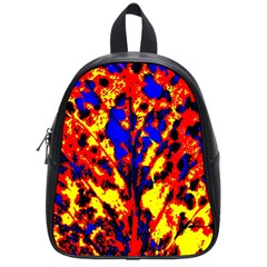 Fire Tree Pop Art School Bags (small)  by Costasonlineshop