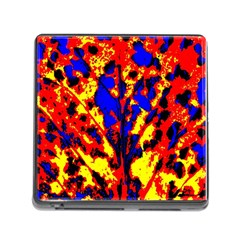 Fire Tree Pop Art Memory Card Reader (square) by Costasonlineshop