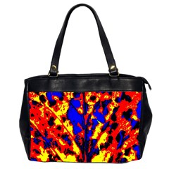 Fire Tree Pop Art Office Handbags (2 Sides)  by Costasonlineshop