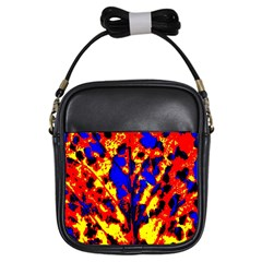 Fire Tree Pop Art Girls Sling Bags by Costasonlineshop