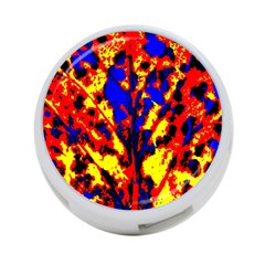Fire Tree Pop Art 4 Port Usb Hub (one Side) by Costasonlineshop