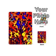 Fire Tree Pop Art Playing Cards 54 (mini)  by Costasonlineshop
