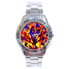 Fire Tree Pop Art Stainless Steel Men s Watch by Costasonlineshop
