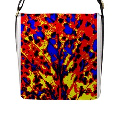 Fire Tree Pop Art Flap Messenger Bag (l)  by Costasonlineshop