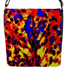 Fire Tree Pop Art Flap Messenger Bag (s) by Costasonlineshop