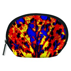 Fire Tree Pop Art Accessory Pouches (medium)  by Costasonlineshop