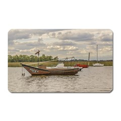 Fishing And Sailboats At Santa Lucia River In Montevideo Magnet (rectangular) by dflcprints