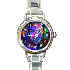 Night Dancer Round Italian Charm Watches by icarusismartdesigns