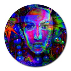 Night Dancer Round Mousepads by icarusismartdesigns