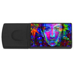 Night Dancer Usb Flash Drive Rectangular (4 Gb)  by icarusismartdesigns