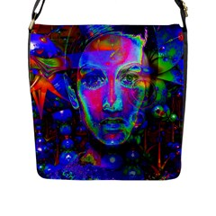 Night Dancer Flap Messenger Bag (l)  by icarusismartdesigns