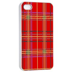 Plaid Apple Iphone 4/4s Seamless Case (white) by JDDesigns