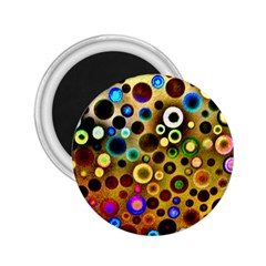 Colourful Circles Pattern 2 25  Magnets by Costasonlineshop