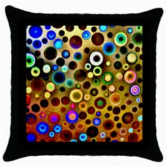 Colourful Circles Pattern Throw Pillow Cases (black) by Costasonlineshop