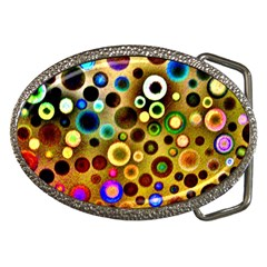 Colourful Circles Pattern Belt Buckles by Costasonlineshop