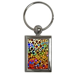 Colourful Circles Pattern Key Chains (rectangle)  by Costasonlineshop