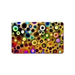 Colourful Circles Pattern Magnet (name Card) by Costasonlineshop