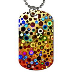 Colourful Circles Pattern Dog Tag (one Side) by Costasonlineshop