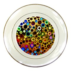 Colourful Circles Pattern Porcelain Plates by Costasonlineshop