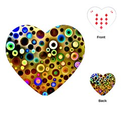 Colourful Circles Pattern Playing Cards (heart)  by Costasonlineshop
