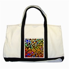 Colourful Circles Pattern Two Tone Tote Bag  by Costasonlineshop