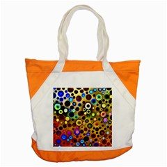 Colourful Circles Pattern Accent Tote Bag  by Costasonlineshop