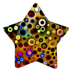 Colourful Circles Pattern Star Ornament (two Sides)  by Costasonlineshop