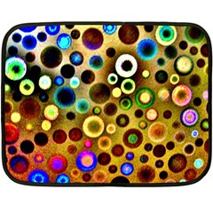 Colourful Circles Pattern Fleece Blanket (mini) by Costasonlineshop
