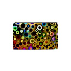 Colourful Circles Pattern Cosmetic Bag (small)  by Costasonlineshop