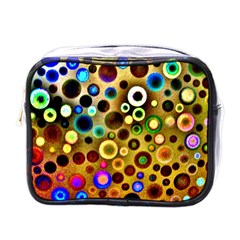 Colourful Circles Pattern Mini Toiletries Bags